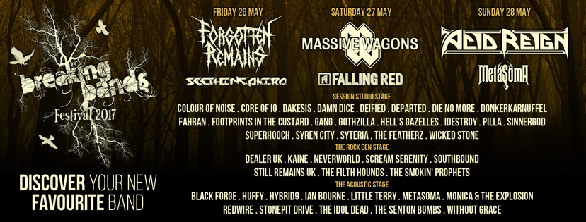 ACOUSTIC STAGE ACTS ANNOUNCED - FULL LINE-UP NOW CONFIRMED!