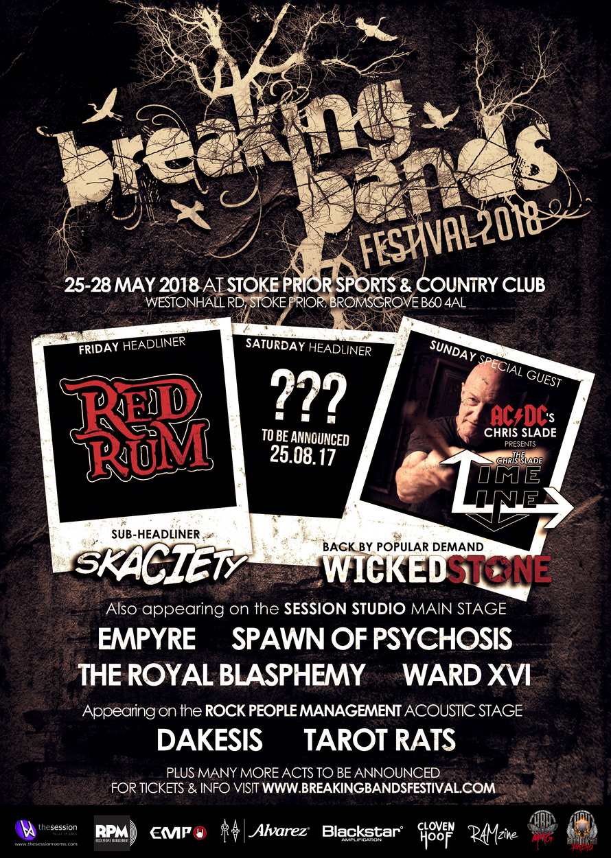 BREAKING BANDS FESTIVAL 2018 ANNOUNCE MORE BANDS INCLUDING FRIDAY HEADLINERS RED RUM!