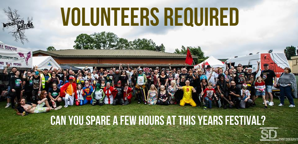 VOLUNTEER APPLICATIONS NOW OPEN FOR BREAKING BANDS FESTIVAL 2018