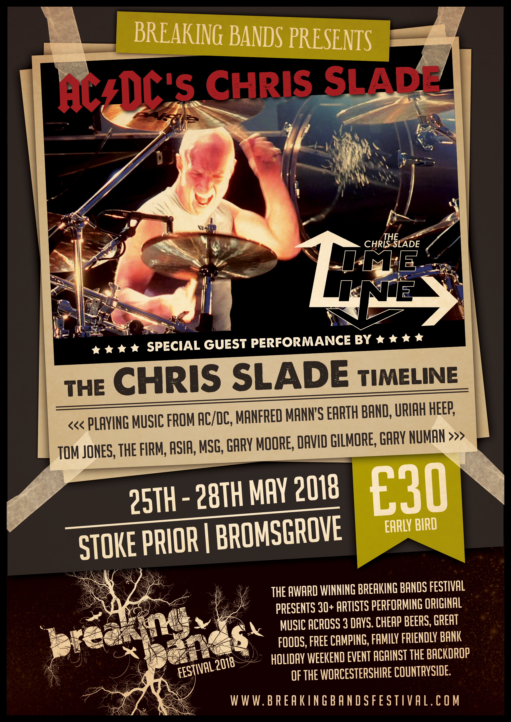 AC/DC's Chris Slade Announced as Special Guest for 2018 Festival!