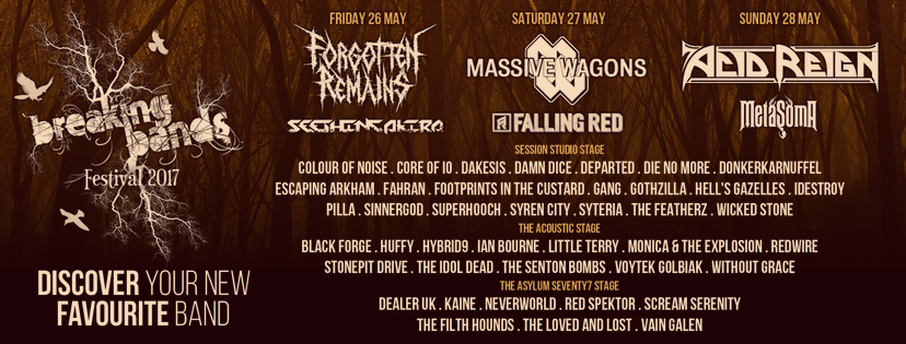 4 BANDS ADDED & NEW STAGE SPONSOR NEWS!