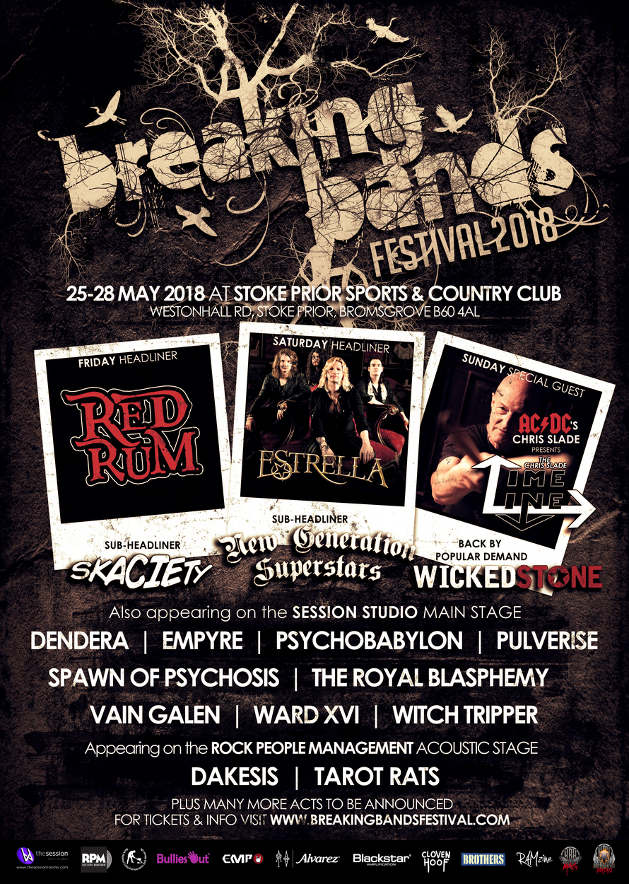 SCOTTISH BAND ESTRELLA TO HEADLINE SATURDAY NIGHT PARTY AT BREAKING BANDS FESTIVAL 2018!