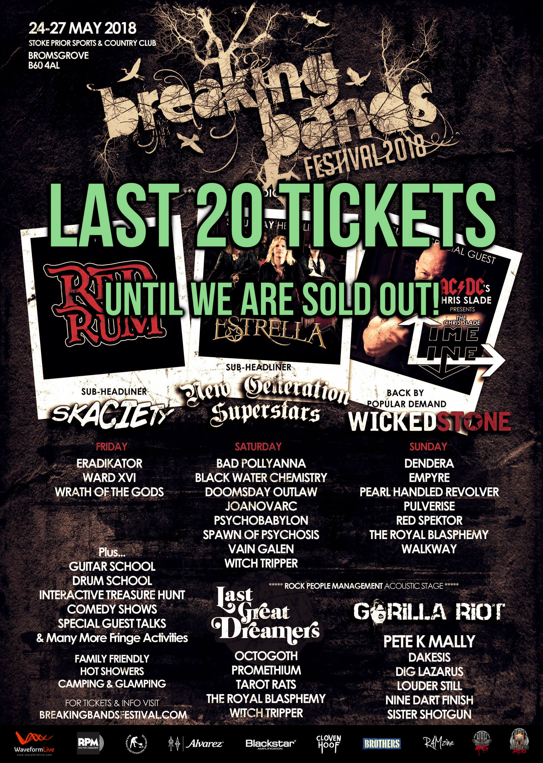 FINAL 20 TICKETS AVAILABLE FOR BREAKING BANDS FESTIVAL IV